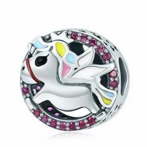 NEW•Silver 925 Unicorn DIY charm/bead
